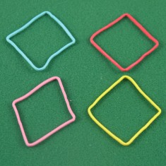 Rubber Band Shapes - Diamonds/Square