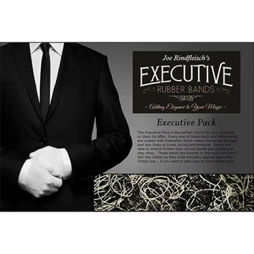 Joe Rindfleisch's Executive Rubber Bands - Black & White Combo Pack