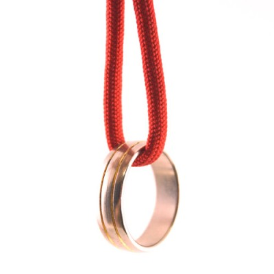 Ring on String - Red Parachute Cord