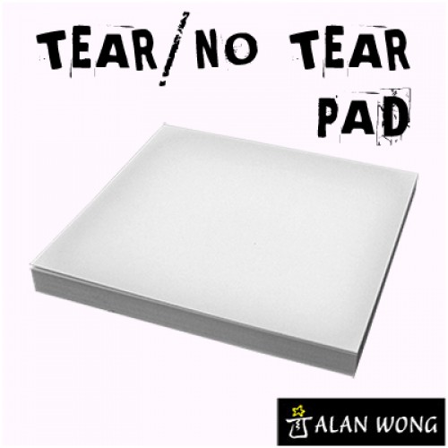 "Tear/No Tear Pad (Alternating) - Alan Wong 3.5"" x 3.5"""