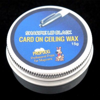 Card on Ceiling Wax by Propdog - Sharpie Lid Black 15g