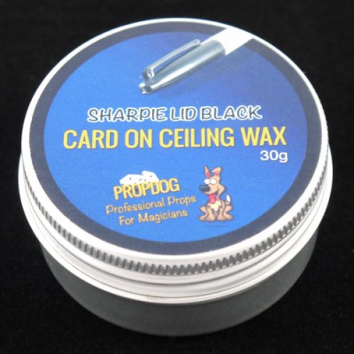 Card on Ceiling Wax by Propdog - Sharpie Lid Black 30g