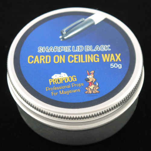 Card on Ceiling Wax by Propdog - Sharpie Lid Black 50g