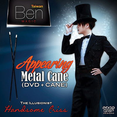Appearing Metal Cane by Taiwan Ben - Black