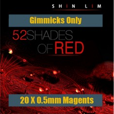 52 Shades of Red - 20 X 0.5mm Ultra Thin Disc Magnets