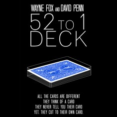 52 to 1 Deck (Blue) by Wayne Fox and David Penn
