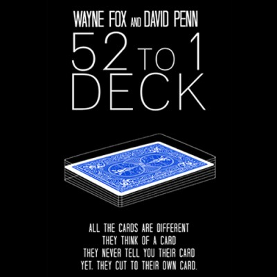 The 52 to 1 Deck (Blue) - Wayne Fox and David Penn