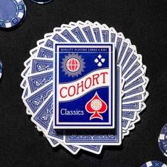 Blue V2 Cohorts Luxury Pressed (E7) Playing Cards