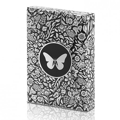 Butterfly Playing Cards Marked Limited Edition (Black and Silver) by Ondrej Psenicka