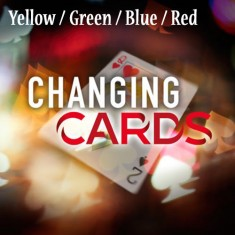 Yellow / Green / Blue / Red Changing Card by Richard Young