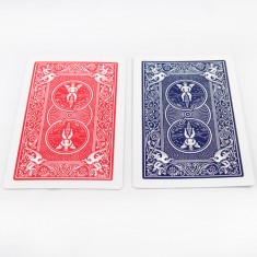 Jumbo Bicycle Card - Double Back Red and Blue