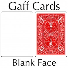 Bicycle Cards - Blank Face, Red Back