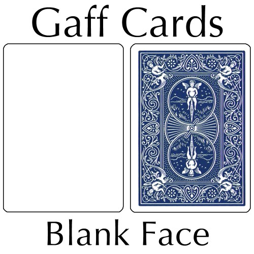 Bicycle Cards - Blank Face, Blue Back