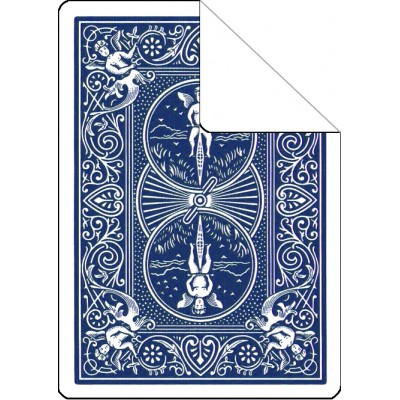 Bicycle Cards - Blank Face, Blue Back (Pack of 5)