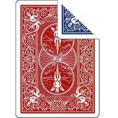 Bicycle Cards - Double Back, Red-Blue (Pack of 5 cards)