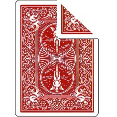 Bicycle Cards - Double Back, Red-Red (Pack of 5 cards)
