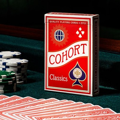 Red V2 Cohorts Luxury Pressed (E7) Playing Cards