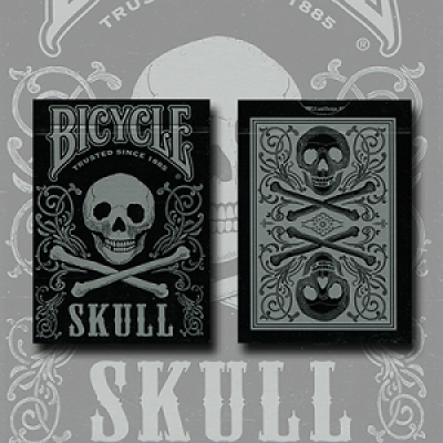 Bicycle Skull Metallic (Silver) by Gamblers Warehouse