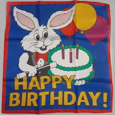 """Happy Birthday Silk 36"""" by Ginn and Goshman"""