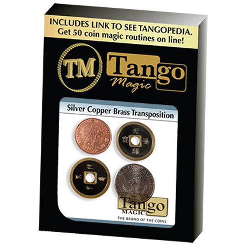 Copper Silver Brass Transposition - Half Dollar/Mexican Centavos and Chinese Coins - Tango