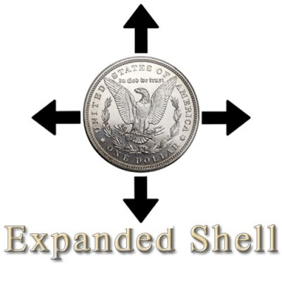 Steel Morgan Dollar and Expanded Shell