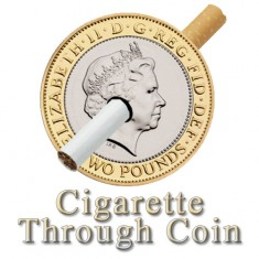 Cigarette Through Coin - £2