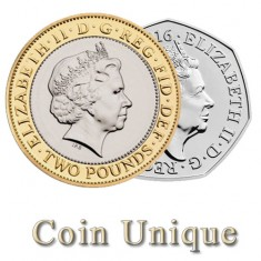 Coin Unique - £2/50p
