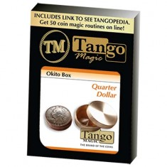 Okito Coin Box Brass - US Quarter - Tango