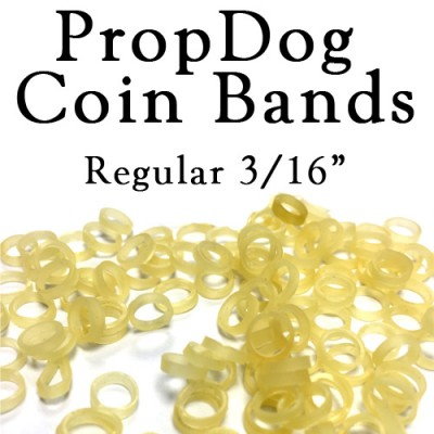 Jumbo Bag of 100 Coin Bands by PropDog - Regular Size