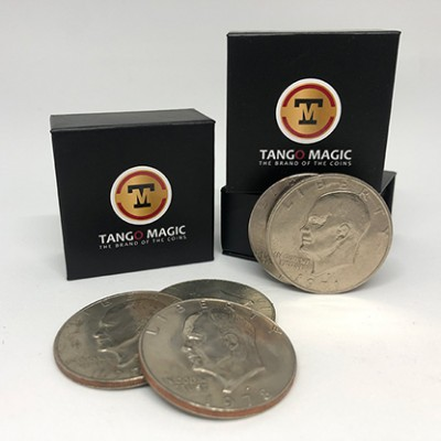 Perfect Shell Coin Set Eisenhower Dollar (Shell and 4 Coins D0202) by Tango Magic