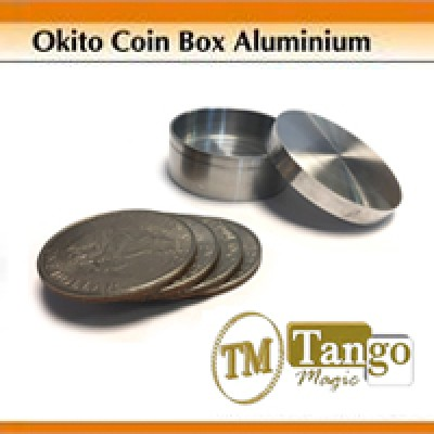 Okito Coin Box Aluminium - Dollar by Tango Magic