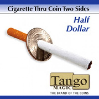 Cigarette Through Coin - Half Dollar (Two Sided) - Tango