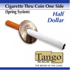 Cigarette Through Half Dollar (One Sided) (D0014) - Tango