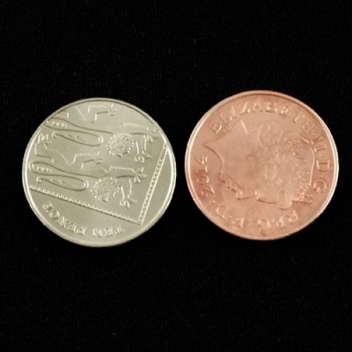 Copper/Silver 10p/2p Coin - by PropDog
