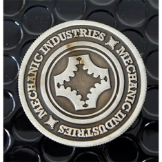 Half Dollar Coin (Gun Metal Grey) by Mechanic Industries