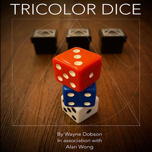 Tricolor Dice by Wayne Dobson