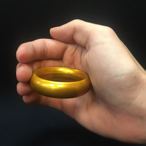Jumbo Wedding Band/Ring - Gold Curved 55mm