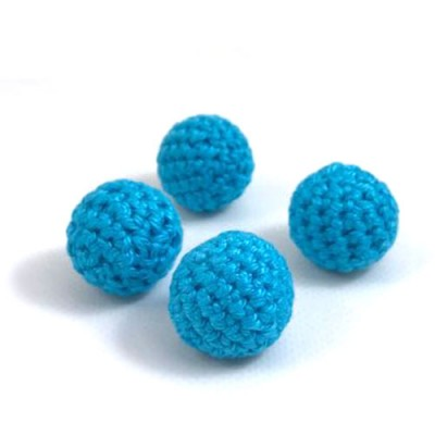 23mm Light Blue Crochet Ball by Five of Hearts Magic - Set of 4 (Contains no magnetic balls)