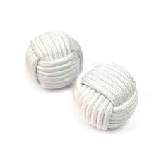 Chop Cup Balls (White) by Stan Airey - Set of 2 (one magnetic and one non-magnetic)