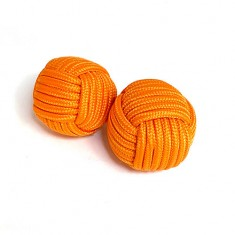 Chop Cup Balls (Orange) by Stan Airey - Set of 2 (one magnetic and one non-magnetic)