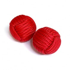 Chop Cup Balls (Red) by Stan Airey - Set of 2 (one magnetic and one non-magnetic)