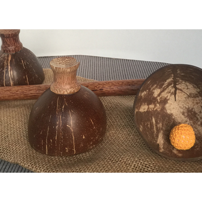 Cheppum Panthum Coconut Shell Cups and Wand set by Gary Kosnitzky