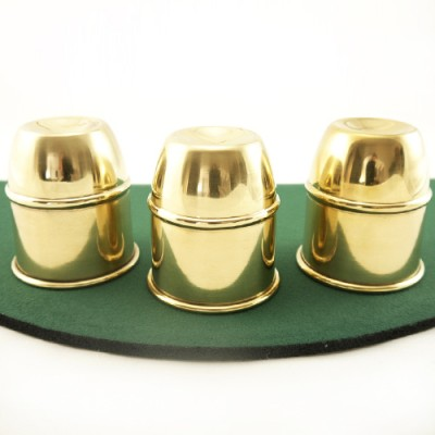 Cups & Balls with Chop Cup by Bazar de Magia - Brass