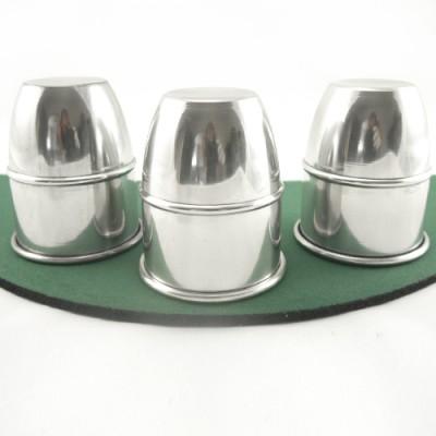 Large Busking Cups & Balls by Premium Magic - Aluminium