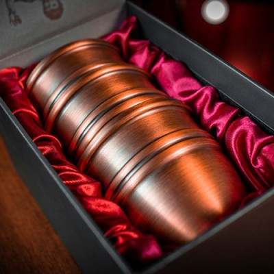 Legend Cups and Balls Aged Copper by Murphy's Magic
