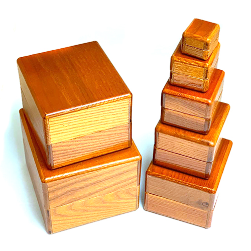 Wooden Nest of Boxes
