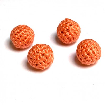20mm Peach Crochet Ball by Five of Hearts Magic - Set of 4 (Contains no magnetic balls)