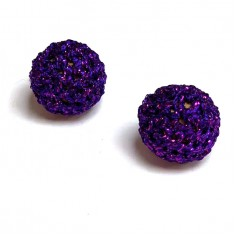 20mm Metalic Purple Crochet Ball by Five of Hearts Magic - Set of 2 (Non magnetic)
