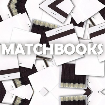 Blank White Matchbooks - Pack of 5