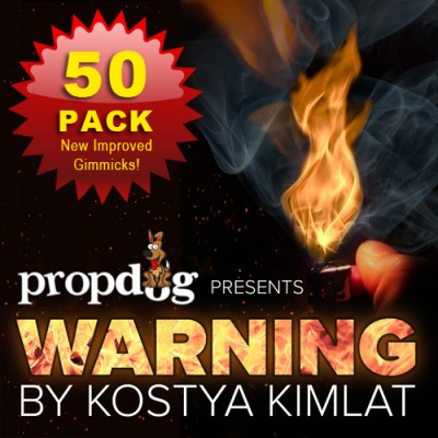Warning by Kostya Kimlat - Pack of 50